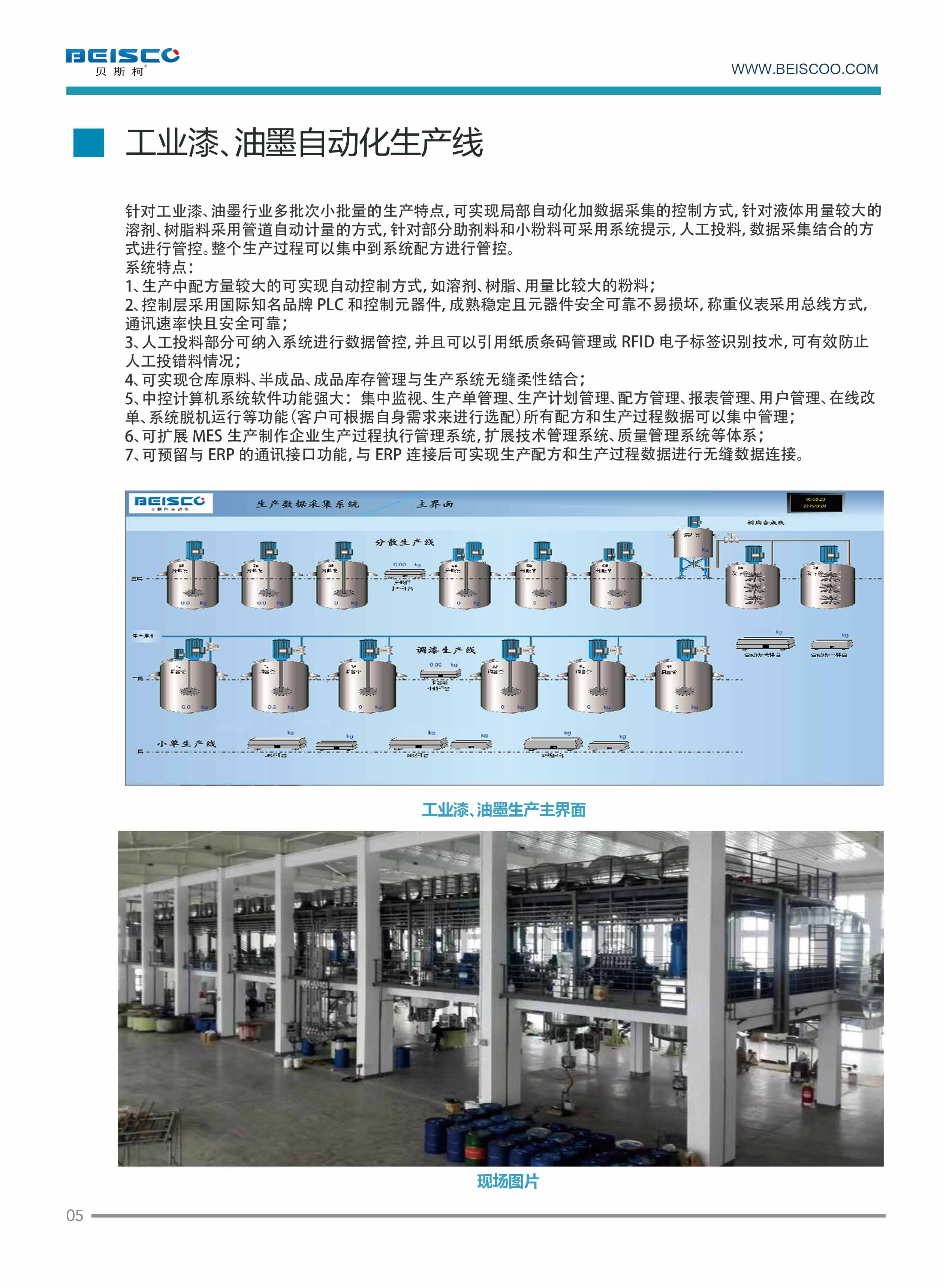 Industrial paints. Automatic ink production lines